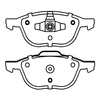 Low-Steel Brake Pad for FORD Front ECE R90
